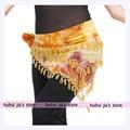 Borla lenço de quadril roupa dança do ventre para venda mulheres bela dança do ventre Belt Hip Scarf dança Oriental egípcio tie dye