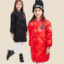 Fashion Winter Jackets Girls Winter Duck Down Coats Girls Parkas Long Style Thick Warm Children Winter Clothing Girls Outerwear