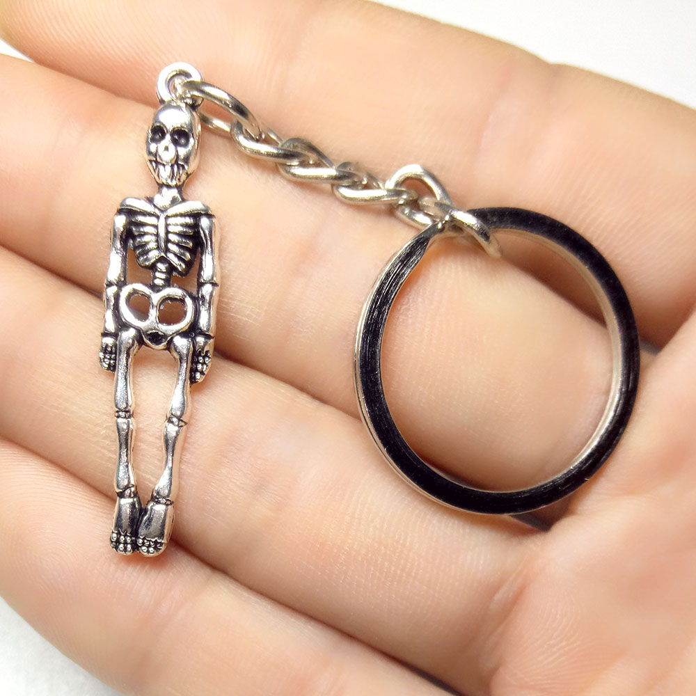 New Coming Mini Skull Keychain Personalized Keychains Fashion  Skeleton Key Chains Key Rings Bag Charm Gifts