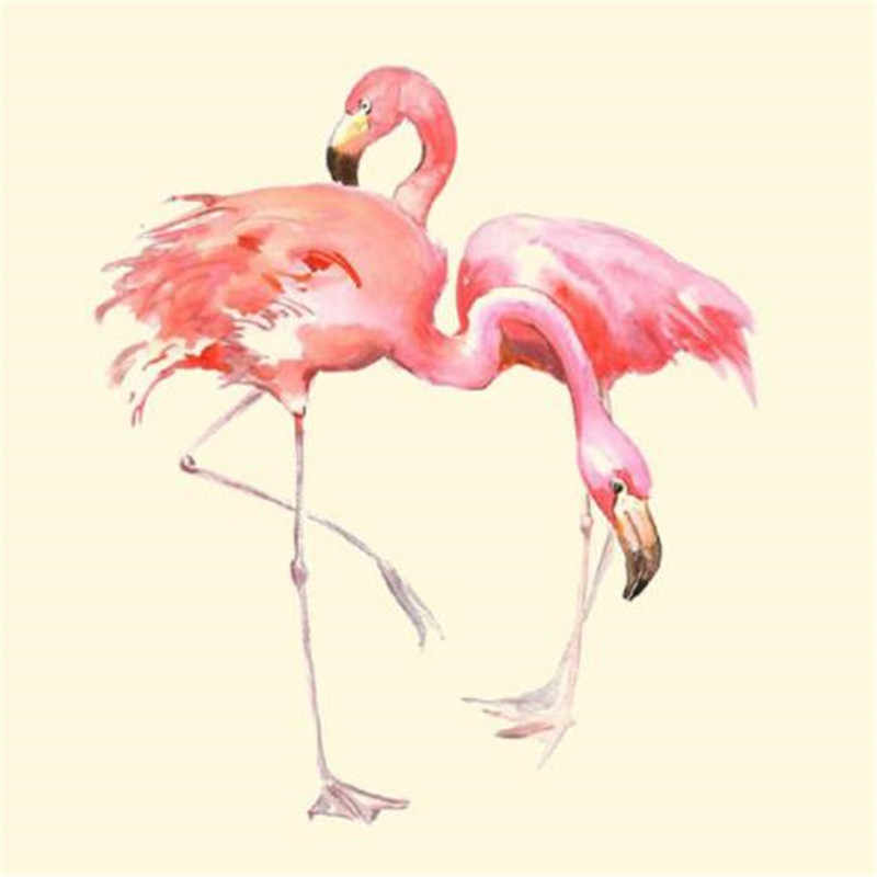 Pink PVC Patch Clothes Large Parent-Child flamingo Thermal Transfer Printing T shirt Girl iron on patches for clothing Stickers