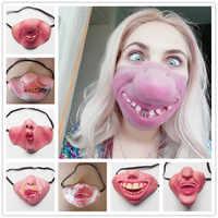 Lustige Kinder Erwachsene Halloween-Party Maske Latex Clown Cosplay Halbe Gesicht Horrible Scary Masken Maskerade Halloween Dekorationen Requisiten