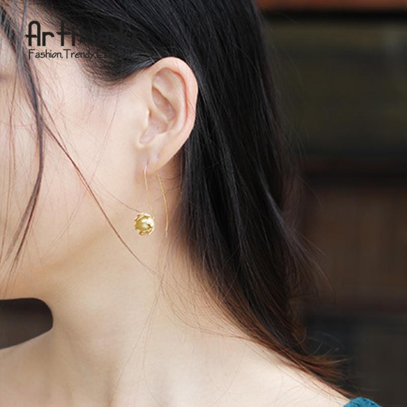 Artilady handmade 925 sterling silver earrings luxury sterling silver beautiful lotus earrings women jewelry christmas gift цены онлайн