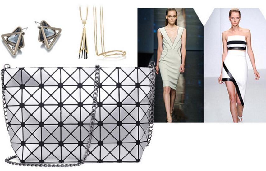 18 Famous Bao Bags Women Geometric Lingge Envelope Handbag Small Chain Clutch Ladies Shoulder Bags Messenger Bag Bao Bolsa 14