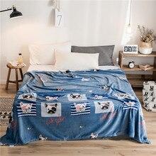 Бренд животных мультфильм флисовый плед для детей покрывало бульдог Чехлы диванов 1 шт. зимние аксессуары дома