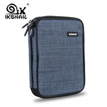 IKSNAIL Büyük Kapasiteli Harici Depolama Çanta Için Güç Bankası Şarj SSD Için iPad Mini Seyahat Çantası sabit disk Kulaklık Diji...