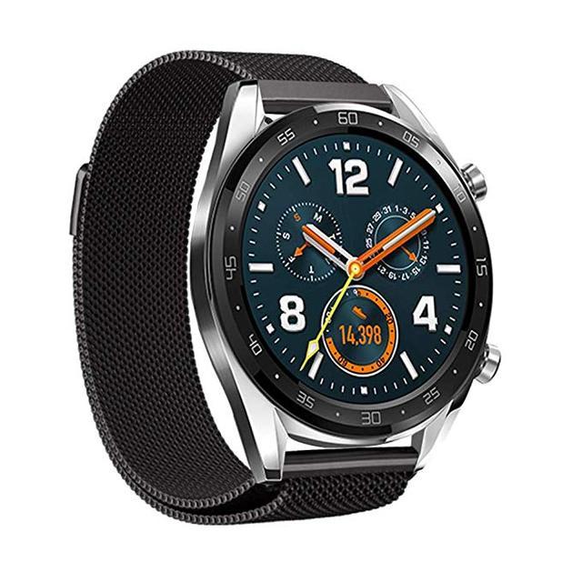 Correa de reloj Milanese Loop de acero inoxidable para Huawei Watch GT banda de hebilla magnética correa de Metal de liberación rápida pulsera de muñeca deportiva