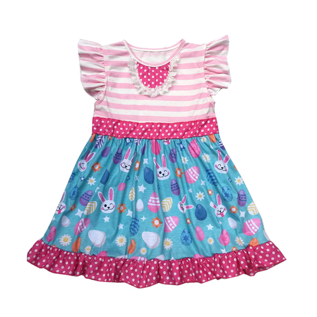 China Supplier Wholesale Summer Kids Clothes Easter day girl dress ... eda447e08