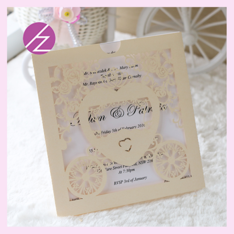 12pcs/lot new laser cut arts and crafts invitation baby shower ...