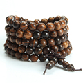 High Quality Tiger Sandalwood Bracelets Handmade 108 Twining Buddha Bead Bracelet Prayer Bead Mala Bracelet Women Men Jewelry