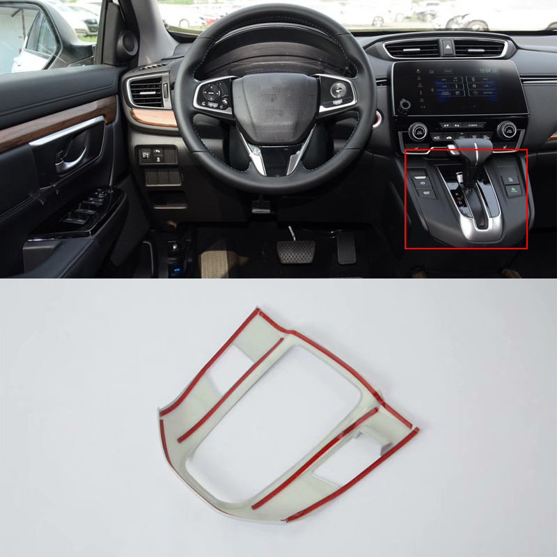 Car Accessories Interior Decoration ABS Matte LHD Gear Shift Panel Cover Trim For Honda CRV 2018 Car Styling in Interior Mouldings from Automobiles Motorcycles