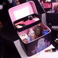 Женская Мода профессиональный макияж Организатор высокое качество большая емкость Многослойная Косметичка портативный ящик Для Хранения Чемодан
