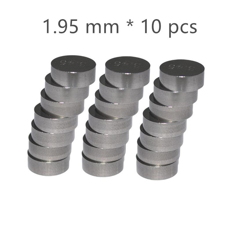 10 шт. 7,48 мм мотоциклетные регулируемые прокладки для клапанов толщина 1,7 мм 1,75 мм 1,8 мм 1,85 мм 1,9 мм 1,95 мм 2,0 мм 2,05 мм 2,1 мм 2,15 мм - Цвет: Коричневый