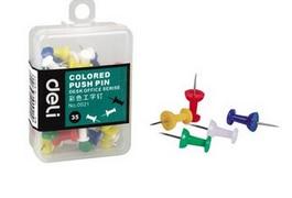 35pcs/set Art Supplies Barrel Packaging Color Nail Pins Carton H Nail  5colors  Wall Nail H Pins Colorful Pins OBT005