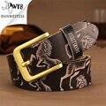 [DWTS] 2016 Новый Топ Кожаный Ремень Мужчин 100% Коускин Природа Подлинная Кожаный Пояс Для Женщин Коровьей Ceinture Homme JSJ002