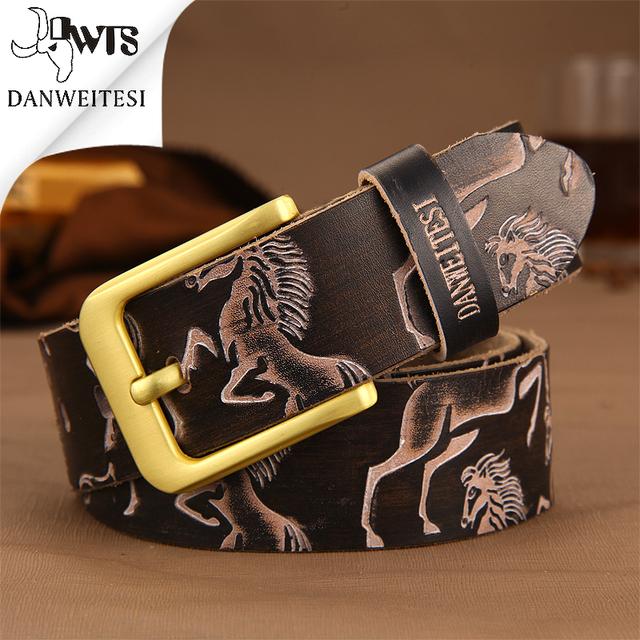 [Dwts] 2016 nueva top cinturón de cuero correa de las mujeres del zurriago de los hombres 100% piel de vaca natural de cuero genuino ceinture homme jsj002