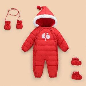 Image 2 - 2020 ファッション新しい女の赤ちゃん外出秋冬ジャケット子供ダウン綿garmet新生児暖かい快適なジャンプスーツ