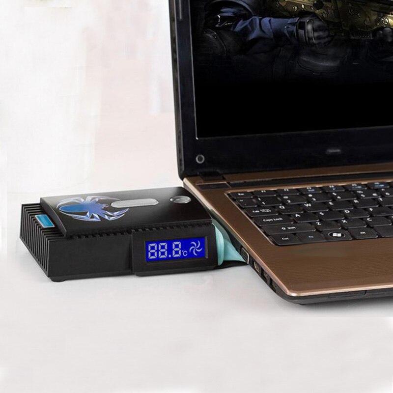 Mini Portable Vakuum USB Laptop Kühler Air Extrahieren Auspuff Lcd-temperaturanzeige Lüfter Cpu-kühler Für Notebook Laptop