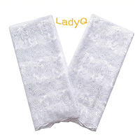 LadyQ Elegant African Lace Latest Nigerian Laces Fabric 2018 High Quality Lace Red Pink Magenta Teal White African Lace Fabric