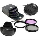 67mm UV+CPL+FLD Lens Filter+67mm Lens Cap Cover +67mm Flower len hood +Filter Case bag for canon nikon pentax sony camera