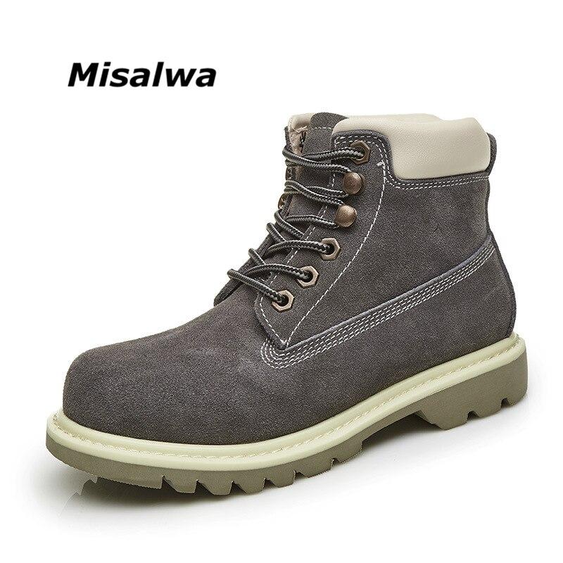 Misalwa 2018 Printemps Automne Hiver Femmes Bottes De Mode à lacets Cheville Martin Bottes Chaud Britannique Rétro Grande Taille Femmes bottes