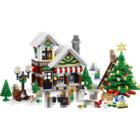 Hot Girl Series 945PCS Cinderella Christmas Hut Compatible Lepins Building Blocks For Toddlers Blocks Construction Toy