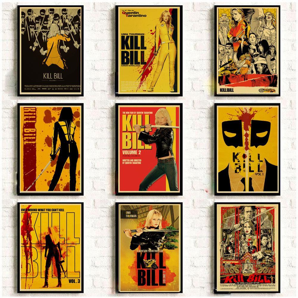 Винтажные постеры из классического фильма «Убить Билла» для дома/бара/гостиной, крафт-бумага, высококачественный плакат, наклейка на стену