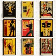Filme clássico matar bill posters do vintage para a casa/barra/vivendo decoração papel kraft alta qualidade poster adesivo de parede