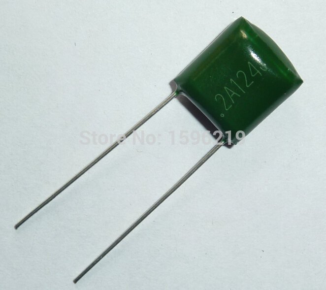 10pcs Mylar Film Capacitor 100V 2A124J 0.12uF 120nF 2A124 5% Polyester Film Capacitor