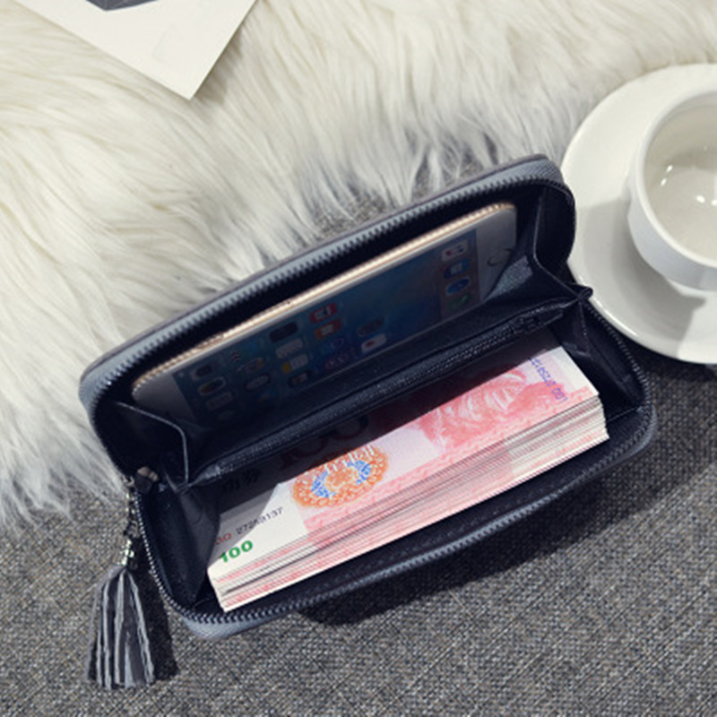 Fashion Explosion Models 2019 Ladies Wallet Creative New PU Material Clutch Bag Pendant Zipper Multifunctional Ladies Wallet in Wallets from Luggage Bags