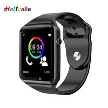 A1 наручные часы Bluetooth Смарт часы Спорт Шагомер с sim-камерой Smartwatch для Android смартфон Россия T15 хорошо, чем DZ09