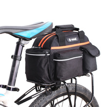 15L Bike Pannier Bag Waterproof Cycling Bag Bicycle Rear Seat Rack Storage Trunk Bag Travel Handbag Bike Bag Bicycle Accessories