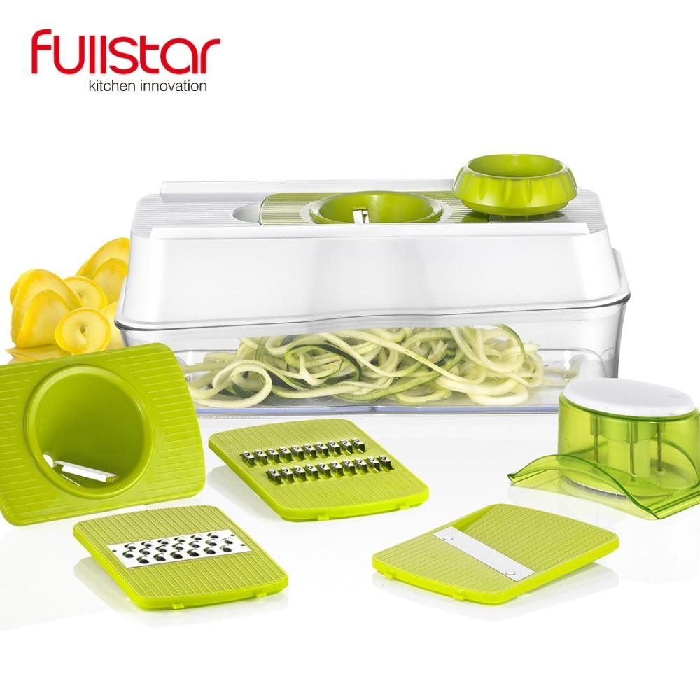 5 IN 1 kitchen accessories Mandoline Slicer Spiralizer Vegetable Slicer Mandoline Food Slicer with Julienne Grater  5 Blades fonksiyonlu rende