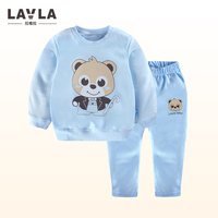 LAVLA 2018 Sping New Baby Girls Boys Clothes Set T Shirts Pants 2pcs Cotton Toddler Boys