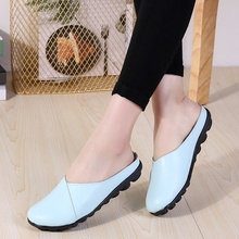 AARDIMI Summer Women Slippers Genuine Leather Slides Flat Shoes Solid Female Flip Flops