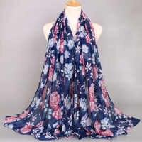 NEW fashion printe flower viscose summer long shawls hijab autumn wrap muslim headband 6 color scarves/scarf 180*85cm 10pcs/lot