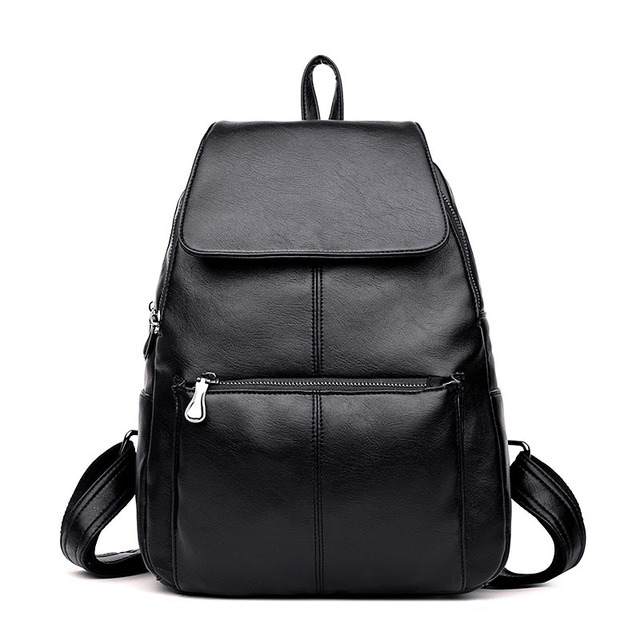 a1902d401191 PU Washed Leather Female Backpack Casual Shoulder Bag Ladies Satchel School  Bag Travel Daypacks for Girls