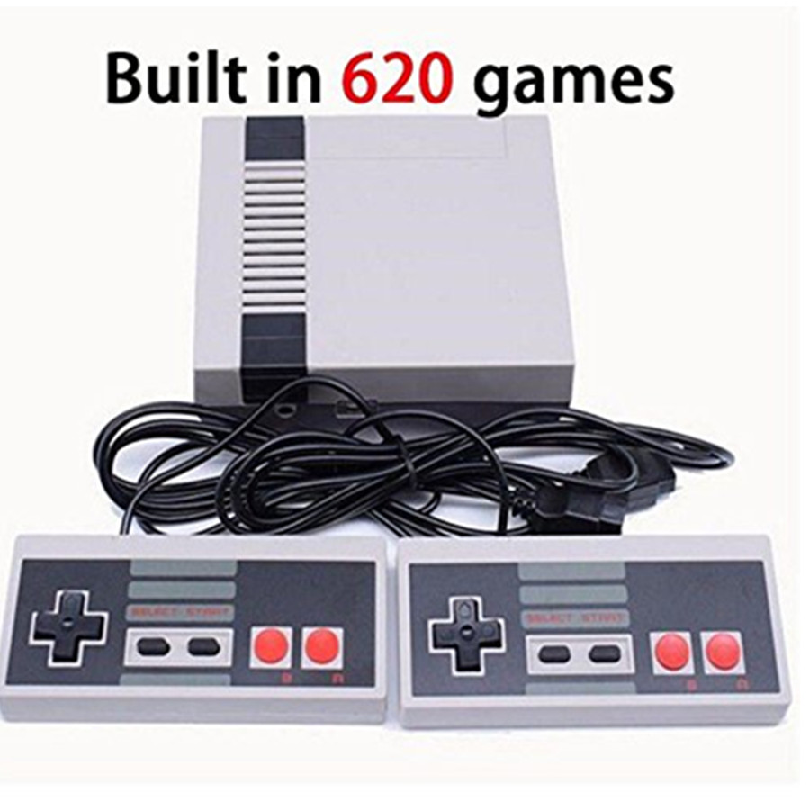 все цены на Video game Double Gamepads Mini Retro Classic Video Game Console Built-in 620 Games 8Bit PAL&NTSC Family TV handheld game player