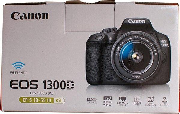 Nova Canon EOS Rebel 1300D T6 Lente DSLR Câmera Wi-Fi com 18-55mm III