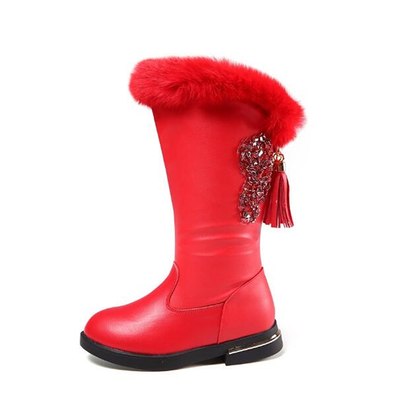 Winter Girls Snow boots Genuine leather Knee-High Motorcycle boots Fashion Fringe Children shoes Riding, Equestrian boots 02B цены онлайн