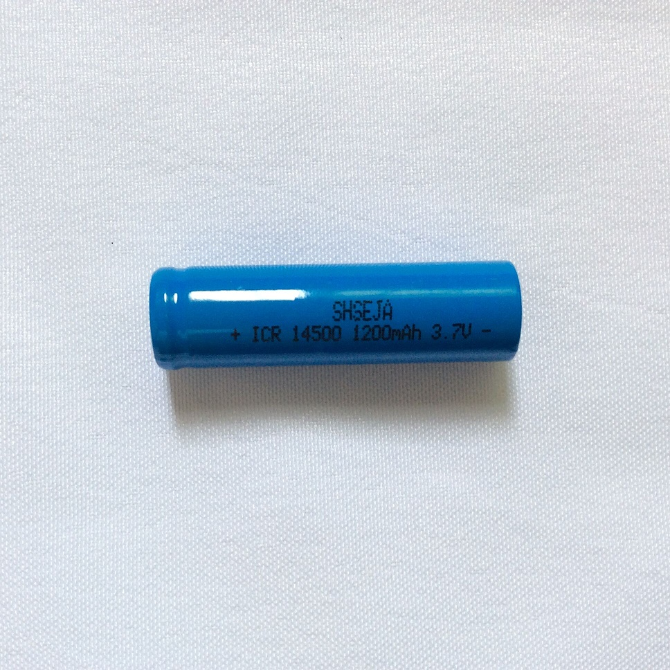 1pcs ICR14500 1200mAh <font><b>3.7v</b></font> <font><b>14500</b></font> li ion rechargeable Batteries led flashlight Flat Top Battery AA batteries image