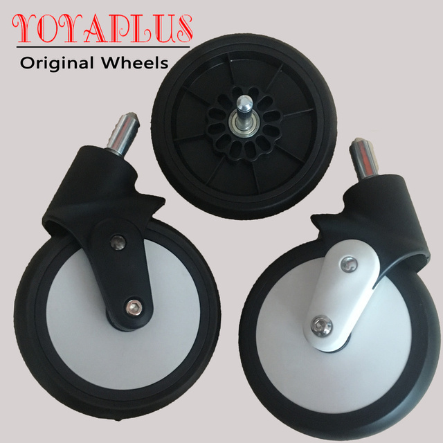 Original Yoyaplus Yoya Plus Stroller Replace Part Front Wheels Pushchair Back Rubber Wheel Kids Yoya Pram Stroller Accessories