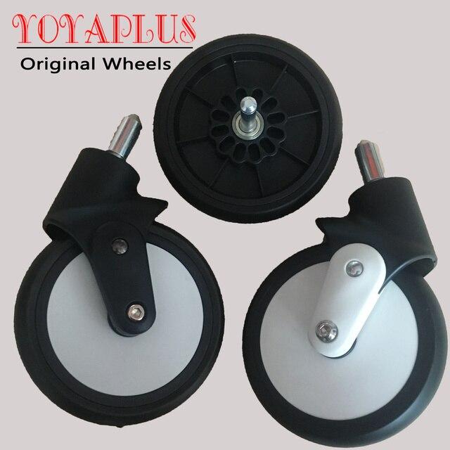 Original Yoyaplus Yoya Plus cochecito reemplazar parte ruedas delanteras silla trasera rueda de goma niños Yoya Pram accesorios para cochecito
