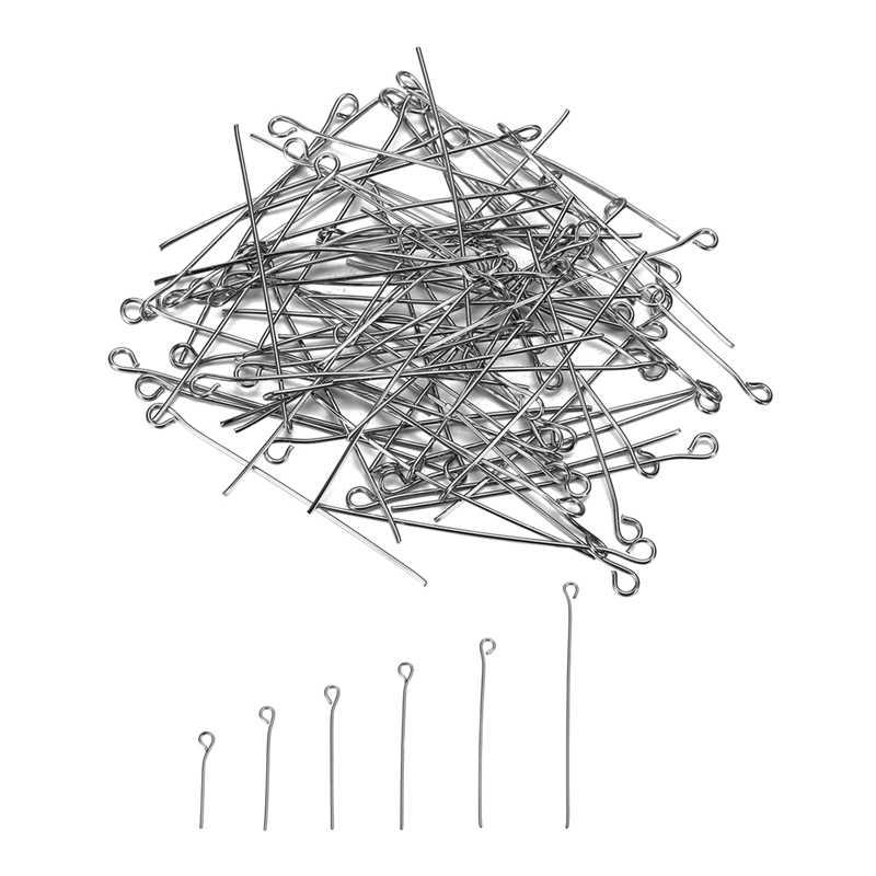 LASPERAL 1500PCs สแตนเลส Nine Word เข็มอุปกรณ์เสริมสำหรับเครื่องประดับ DIY เครื่องประดับหา & 20/25/30 /35/40/50 มม.