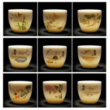 65 мл китайская чайная чашка фарфоровая чайная чашка набор чайная посуда керамический чайный набор кунг-фу керамическая чашка китайский подарок
