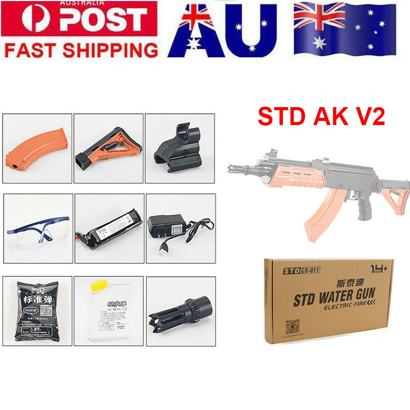 Zhenduo Toy Plastic STD AK V2 Water Crystal Bullet Gel Ball Blaster  Gun Mag-fed Outdoor