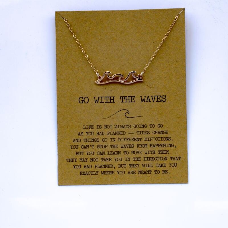 """SanLan 1 шт идут в комплекте ожерелье с подвеской """"волны"""" Океан ювелирные изделия - Окраска металла: 10"""