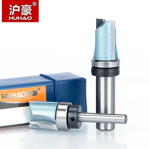 """Image 3 - HUHAO 1pc Bearing Flush Trim Router Bit for wood 1/2"""" 1/4"""" Shank straight bit Tungsten Woodworking Milling Cutter Tool"""