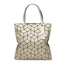 Fashion women Geometric Lingge package bag 3D cube Japanese handbag Matt wiredrawing bangalor bao bao balso