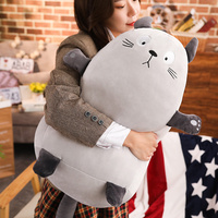 30 60cm Totoro Cat Doll Pillow Plush Toy Girl Holding Sleeping Soft Stuffed Totoro Doll Cute Korean Funny Doll
