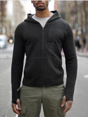 Hommes décontracté casual TAD sweat à capuche pull 2014 automne et hiver mouvement laine mérinos chandail tricoté à capuche hoodies sweat à capuche automne